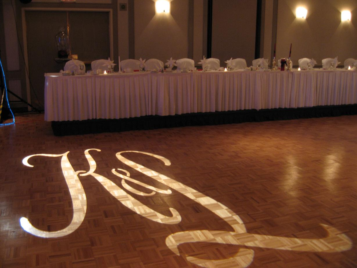 wedding Gobo dance floor